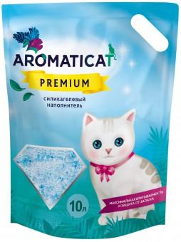 Aromaticat Premium 10 литров (4 кг) Селикагелевый впитывающий наполнитель для кошачьего туалета