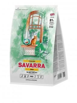 Savarra 0,4кг Sterilized Duck сухой корм для стерилизованных кошек с уткой и рисом