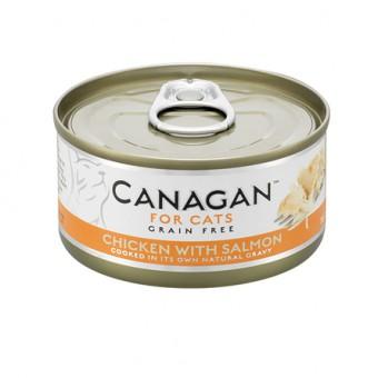 Canagan влажный корм для кошек всех возрастов, цыпленок с лососем, 75г