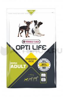 Opti Life Adult Mini 1кг Для взрослых собак малых пород с курицей и рисом