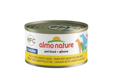 Almo nature 95гр Консервы для собак Курица с морковью и рисом по-домашнему