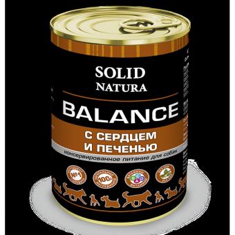 Solid Natura Balance 0,34 кг влажный корм для собак, сердце и печень