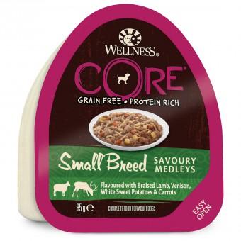 Wellness CORE Small Breed 85г консервы из баранины с олениной, белым сладким картофелем и морковью для собак мелких пород