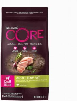 Wellness Core 1,5 кг сухой со сниженным содержанием жира из индейки с курицей для взрослых собак мелких пород