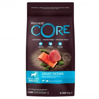 Wellness Core 1,8 кг сухой корм с тунцом для взрослых собак средних и крупных пород