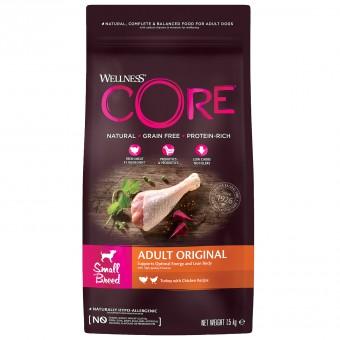 Wellness Core 1,5 кг сухой корм из индейки с курицей для взрослых собак мелких пород