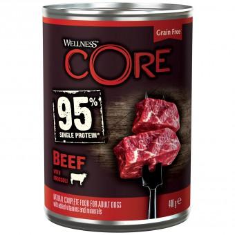 Wellness CORE 95 400г консервы из говядины с брокколи для взрослых собак