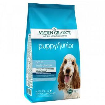Arden Grange 2 кг Puppy junior Сухой корм для щенков и молодых собак.