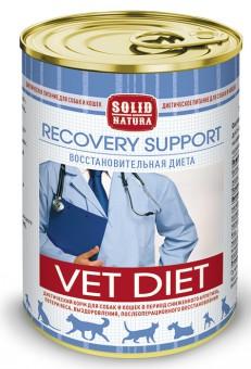 Solid Natura VET Recovery Support 0,34 кг восстановительная диета с курицей для собак и кошек влажный корм