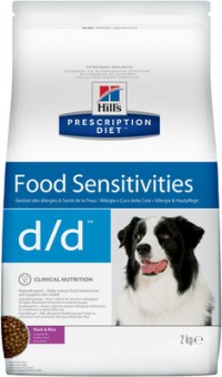 Hill's 5кг Hill's Prescription Diet D/D утка и рис, лечение пищевых аллергий и непереносимости, Duck&Rice