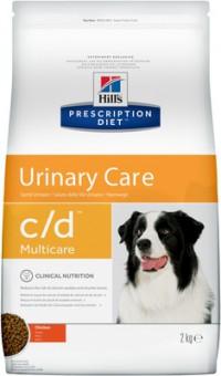 Hill's 2кг Prescription Diet С/D для собак от МКБ, струвиты, Urinary