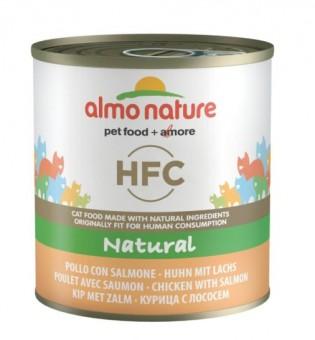 Almo Nature 280г Classic HFC Adult Cat Salmon&Chicken Консервы для кошек с Лососем и Курицей