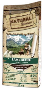 Natural Greatness 12 кг Lamb Recipe Sensitive Сухой корм для собак и щенков с чувствительным пищеварением Рецепт с Ягненком