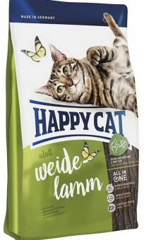Happy cat 10 кг. Adult lamb Сухой корм для взрослых кошек Пастбищный ягненок без рыбы