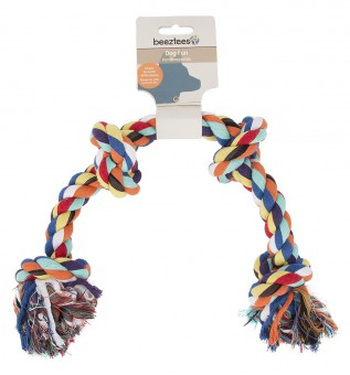 Beeztees Игрушка для собак Канат с 4-мя узлами разноцветный 360г*60см