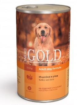Nero Gold 1,25кг Turkey and Duck консервы для собак, Индейка и утка