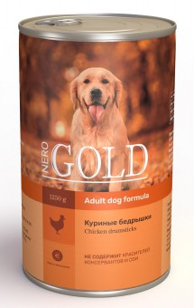 Nero Gold 1,25кг Chicken Drumsticks консервы для собак, Куриные бедрышки