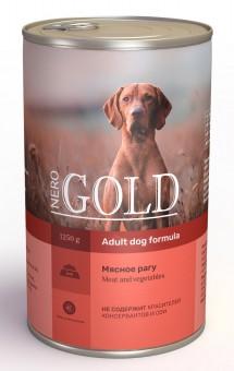Nero Gold 1,25кг Meat Vegetables консервы для собак, Мясное рагу