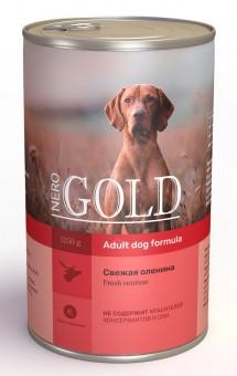 Nero Gold 1,25 кг Adult Dog Formula Fresh Venison консервы для взрослых собак Свежая Оленина