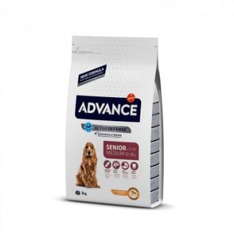 Advance 12кг Medium senior Сухой корм для пожилых собак средних пород курица рис