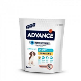 Advance 12кг Puppy Sensitive Сухой корм для щенков с чувствительным пищеварением, лосось и рис