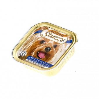Mister Stuzzy Dog 150 г Кусочки филе в паштете для щенков всех пород, с телятиной и морковью