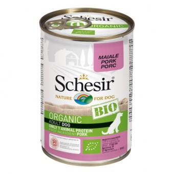 Schesir Bio 400г консервы для собак, свинина