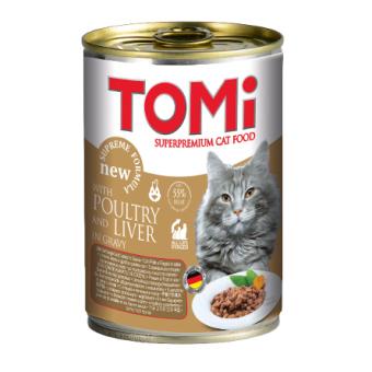ToMi 400 г Кусочки паштета в соусе для котят с уткой и печенью
