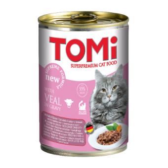 ToMi 400 г Кусочки паштета в соусе для котят с телятиной