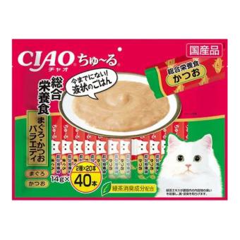INABA CIAO 560г Комплексное питательное лакомство для кошек (микс бонито, желтоперый тунец)
