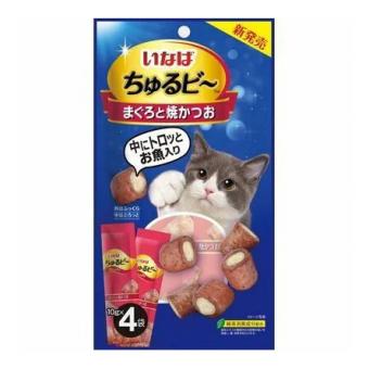 INABA 40г Запеченные трубочки для кошек с начинкой из тунца-бонито