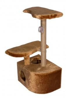 Домик Оригинальный угловой с помпоном, джут, 36x54x83 см