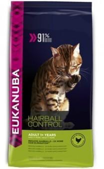 EUKANUBA 2кг Adult Hairball Control для взрослых кошек Вывод шерсти редко выходящих на улицу