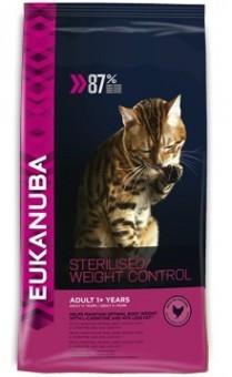 Eukanuba 0,4кг Adult Sterilized/Weight Control для кастрированных и склонных к ожирению кошек