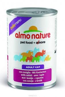 Almo Nature 400г Daily Menu Rabbit Консервы для кошек Меню с Кроликом