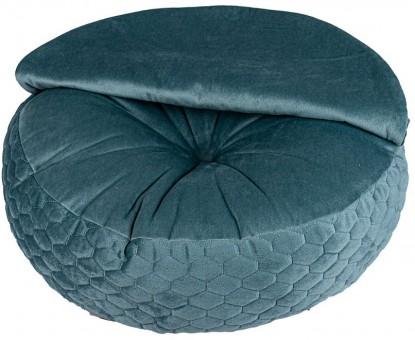 Xody(Ксоди) 70*70 см Пуфик комфорт №2, флок, бирюзовый