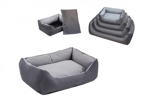 Yami-Yami 87x62x24см №3 Лежак прямоугольный с подушкой,серый