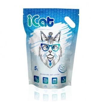 iCat 5л Snow Flakes Силикагелевый наполнитель для кошачьего туалета (с гранулами snowflakes)