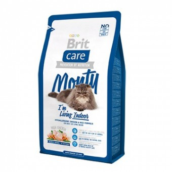 Brit 7 кг Сухой корм с курицей для кошек, живущих в квартире