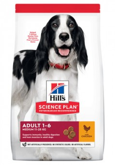 Hill's 2,5кг Adult Medium Chicken Для взрослых собак с курицей