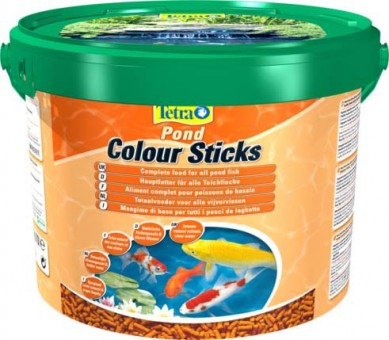 Tetra Pond Color Sticks корм для прудовых рыб палочки для окраски 10 л