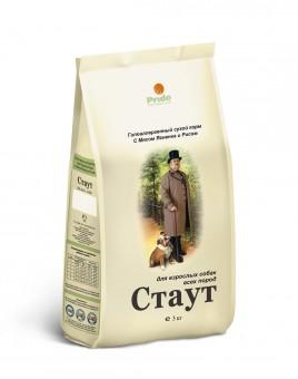Стаут 15кг Сухой гипоаллергенный корм для взрослых собак всех пород ягненок/рис