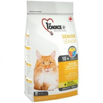 1st Choice 5,44 кг Mature or Less Active для стареющих кошек цыпленок