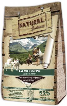 Natural Greatness 2 кг Lamb Recipe Sensitive Сухой корм для собак и щенков с чувствительным пищеварением Рецепт с Ягненком
