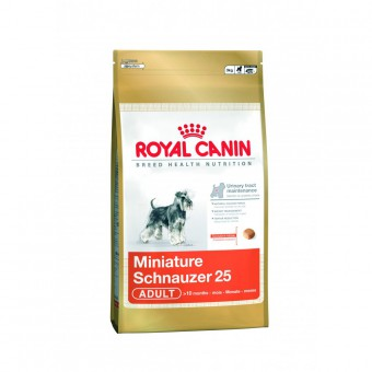 Royal Canin 3 кг. Miniature schnauzer 25 Для собак породы миниатюрный шнауцер старше 10 месяцев
