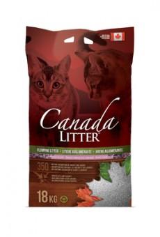 Canada Litter 18 кг Комкующийся наполнитель Контроль запаха (Dust Free) с ароматом лаванды