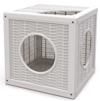 Bama Pet35*35*35 см домик Qublo для кошек, белый