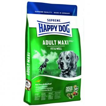 Happy dog 15 кг. Adult maxi Сухой корм для взрослых собак крупных пород от 26 кг с нормальными потребностями в энергии