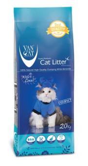 VAN CAT 20кг 100% Натуральный комкующийся наполнитель, без пыли, пакет