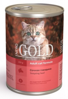 Nero Gold 410г кусочки в желе для кошек Сочная говядина Tempting Beef